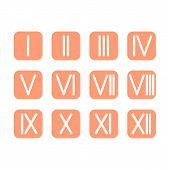 foto of roman numerals  - Set Roman numerals 1 - JPG
