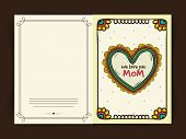 foto of i love you mom  - Floral decorated greeting card with text We Love You Mom for Happy Mother - JPG