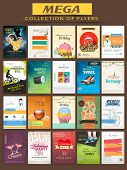 pic of cocktail menu  - Mega collection of stylish Flyers for different business purpose - JPG