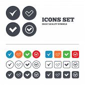 stock photo of confirmation  - Check icons - JPG