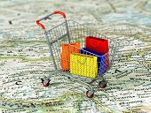 image of cart  - International shopping - JPG