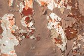 stock photo of deformed  - fragment of a concrete wall - JPG