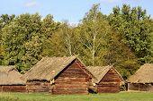 pic of kiev  - Old ukrainian houses in Pirogovo village near Kiev - JPG