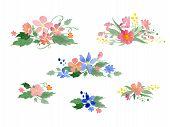 picture of floral bouquet  - Vector watercolor floral bouquets - JPG