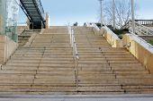picture of stairway to heaven  - a stair to the bus station in the city - JPG