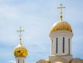 stock photo of trinity  - Trinity Cathedral in the Trinity Lavra of St - JPG