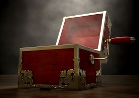 picture of jack-in-the-box  - An ornate antique open jack - JPG