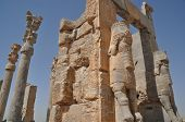 stock photo of xerxes  - Ruins of historic city of Persepolis - JPG