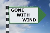 Постер, плакат: Gone With Wind Concept