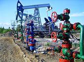 picture of nonrenewable  - Oil pumps in Surgut - JPG