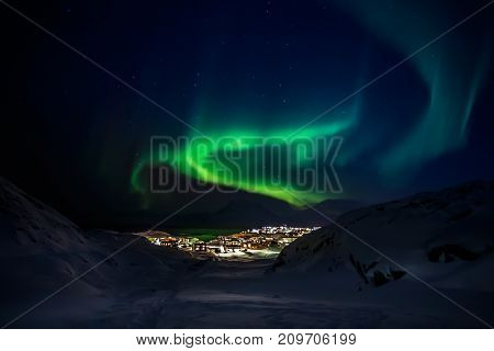 Green Lights Of Aurora Borealis