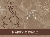 texture background with ganpati, swastika