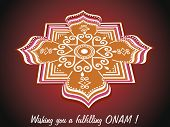 pic of pookolam  - abstract background for onam celebration - JPG