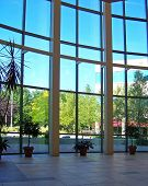 picture of business-office  - interior view of lobby with beautiful windows  - JPG