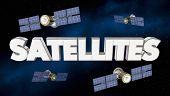 Satellites Network Signal Coverage Telecommunications 3d Illustration poster