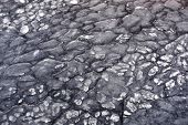 picture of crotons  - block of ice of Croton River in winter day - JPG
