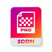 White Png File Document Icon. Download Png Button Icon Isolated On White Background. Png File Symbol poster