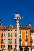 Lion Of Saint Mark Column In Vicenza poster
