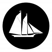 Sailing Boat Icon Isolated On White Background From Amusement Collection. Sailing Boat Icon Trendy A poster