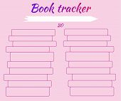 Tracker Habits. Tracker Reading Books. Mark Read Books And Learn. For Students. Enter Titles Of Book poster