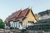 View Of The Building At Wat Chedi Luang Temple, The Historical Buddhist Temple In Chiang Mai, Thaila poster