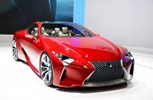 GENEVA - MARCH 12: LF-LC Hybrid Concept Sport Coupe by Lexus on display at 82nd Geneva Motor Show on