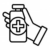 Medical Disinfect Icon. Outline Medical Disinfect Vector Icon For Web Design Isolated On White Backg poster