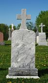 Cross Of Granit On Old Memorial Monument poster