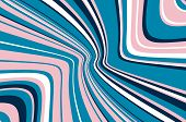 Abstract Pattern. Texture With Wavy, Curves Lines. Optical Art Background. Colorful Wave Design. Dig poster