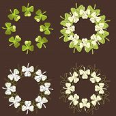 Decorative Circular Shamrock Patterns