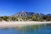 Marbella Beach On Costa Del Sol