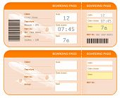 stock photo of boarding pass  - Boarding pass ticket concept - JPG