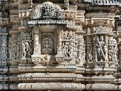 stock photo of jainism  - Ancient Sun Temple in Ranakpur - JPG