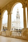 stock photo of fatima  - Sanctuary of Our Lady of Fatima - JPG