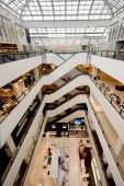 picture of shopping center  - Interior of an upmarket European shopping centre  - JPG