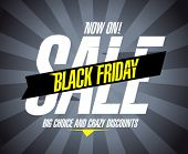 stock photo of friday  - Black friday sale design template - JPG