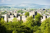 picture of west midlands  - ruins of Ludlow Castle - JPG
