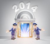 New Year Door 2014 And Doormen