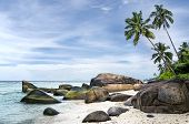 picture of deserted island  - Anse aux Cedres lovely deserted beach south - JPG