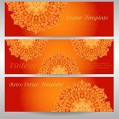 stock photo of macrame  - vector delicate lace round mandala pattern - JPG
