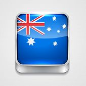 vector 3d style flag icon of australia