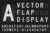 Vector flap display