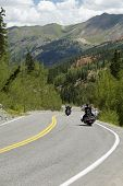 pic of rocky-mountains  - Winding road through the Rocky Mountains - JPG