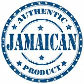 image of jamaican  - Grunge rubber stamp with text Authentic Jamaican - JPG
