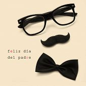 stock photo of mustache  - sentence feliz dia del padre - JPG