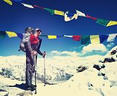 Hiker in Nepal,Everest region