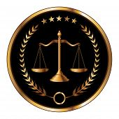stock photo of justice law  - Illustration of a design for law - JPG