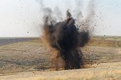 picture of grenades  - Real bomb explosion - JPG