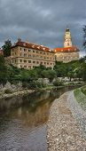 stock photo of bohemia  - Cesky Krumlov Castle at sunset - JPG