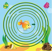 picture of game-fish  - Maze game for kids  - JPG